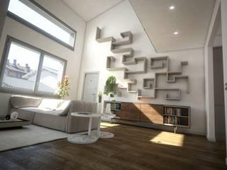 Loft BL 02: Soggiorno in stile in stile Moderno di Ivan Rivoltella