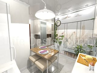 Дизайн интерьера в Калининграде. 4LifeDesignStudioが手掛けたダイニング