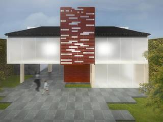 Casas de estilo ecléctico de Molcajete Arquitectura Interiores Diseño Ecléctico