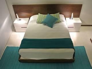 ArtiA desarrollo, arquitectura y mobiliario. Minimalistische Schlafzimmer Holznachbildung