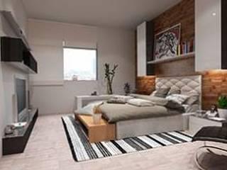 ArtiA desarrollo, arquitectura y mobiliario. Chambre minimaliste Effet bois