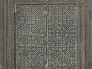 Portón indio antiguo de 2 hojas talladas:  de estilo  de Conely