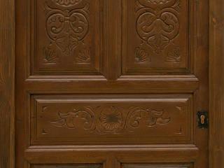 Puerta antigua de 1 hoja y 6 cuarterones tallados:  de estilo  de Conely