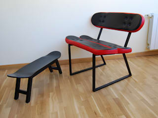 Skateboard chair - nose grab - black and red color de skate-home Moderno