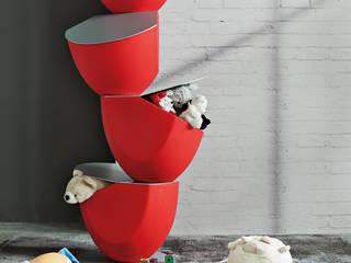 BandIt Design Stanza dei bambiniContenitori PVC Rosso