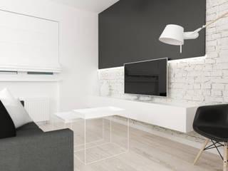 Schwarz-Weiß-Haus FOORMA Minimalistische Wohnzimmer