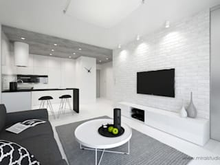 MIRAI STUDIO Living room Bricks White