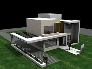 Casa San Alfonzo lote 210: Casas de estilo minimalista por arquitectura siglo XXI