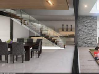 Casa Camacho Comedores modernos de AParquitectos Moderno