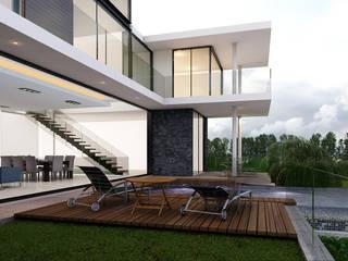 AParquitectos Casas modernas Multicolor