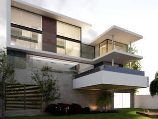 AParquitectos Casas modernas Concreto Multicolor