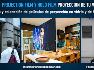 Projection film:  de estilo  por White & Clear
