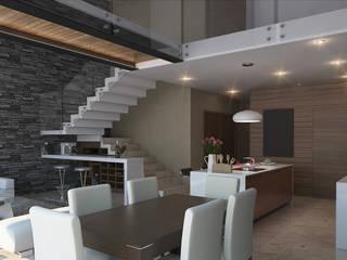 Casa Cardelle Comedores modernos de AParquitectos Moderno