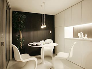 85inc. Modern Dining Room Iron/Steel White