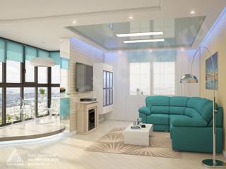 Salas / recibidores de estilo moderno por АвтоСтрой