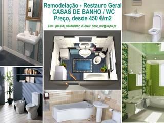 Remodelação - Restauro geral de CASA DE BANHO/WC, desde 450€/m2.:   por 'PRESTIGIO'   OBRAS: Construção, Alteração, Remodelação e reabilitação, ...  Manutenção.