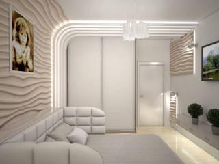 Дизайн студия Александра Скирды ВЕРСАЛЬПРОЕКТ Minimalist bedroom