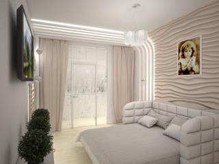 Minimalist bedroom by Дизайн студия Александра Скирды ВЕРСАЛЬПРОЕКТ Minimalist