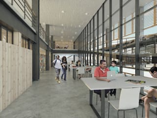 Centro Cultural de Casagrande Trujillo: Salas multimedia de estilo  por Ctrl+