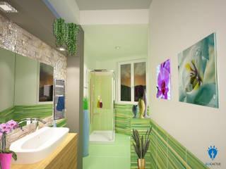 Modern bathroom by blucactus design Studio Modern