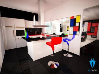 Modern kitchen by blucactus design Studio Modern