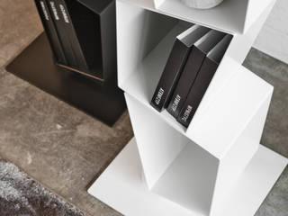 BandIt Design SoggiornoScaffali Metallo Bianco