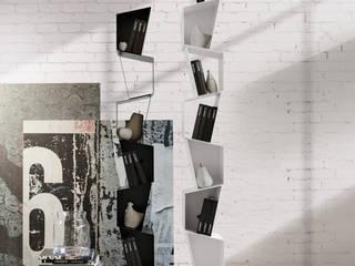 BandIt Design Ingresso, Corridoio & ScaleCassettiere & Scaffali Metallo Bianco