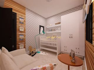 Kamar Bayi/Anak Gaya Skandinavia Oleh .Villa arquitetura e algo mais Skandinavia