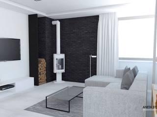 Salon: styl , w kategorii Salon zaprojektowany przez WNĘTRZNOŚCI Projektowanie wnętrz i mebli