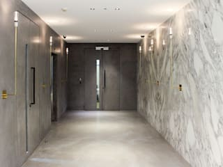 Leman Street Offices Househam Henderson Modern offices & stores Marble Grey