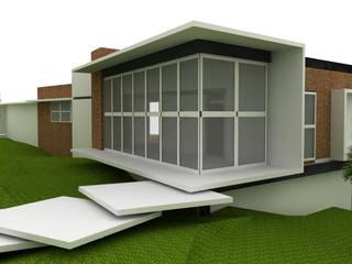 Residência Alto Padrão. Campo da Cachoeira Casas modernas por Draw Arquitetos do Brasil Ltda Moderno