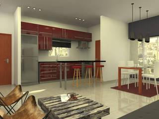 Cocinas de estilo moderno de Arquitecto Ariel Ramírez Moderno
