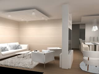 Interiores y Muebles Modern living room Beige