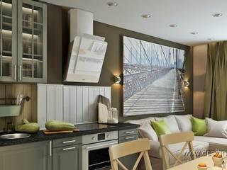 студия Design3F Salones de estilo minimalista Verde