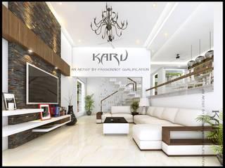 Living room by KARU AN ARTIST, Modern