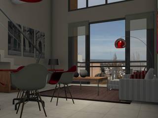 Modern living room by CaB Estudio de Arquitectura Modern