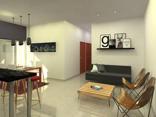 Salones de estilo moderno de Arquitecto Ariel Ramírez Moderno