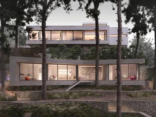 GARRAF Casas de estilo mediterráneo de LUV Studio Mediterráneo