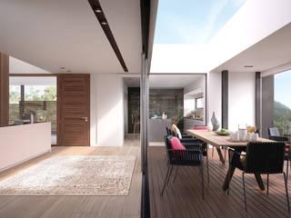 GARRAF Pasillos, vestíbulos y escaleras de estilo mediterráneo de LUV Studio Mediterráneo