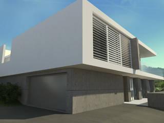 Maison moderne MA à Saint Cyr au Mont d'Or: Maisons de style  par ARRIVETZ & BELLE