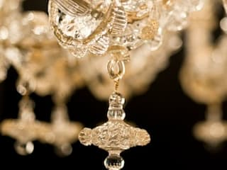 Murano Glass Chandelier - classic Rezzonico gold and crystal glass chandelier - VENIER de YourMurano Lighting UK Clásico