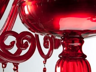 Murano Glass Chandelier - modern red glass chandelier - DOLFIN de YourMurano Lighting UK Moderno