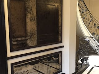 Bespoke Antique Bronze Mirrors - Private Residence London, UK: classic Corridor, hallway & stairs by Alguacil & Perkoff Ltd.