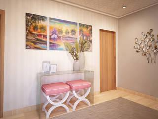 Corredores, halls e escadas modernos por GRAÇA Decoração de Interiores Moderno