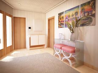Pasillos, vestíbulos y escaleras modernos de GRAÇA Decoração de Interiores Moderno