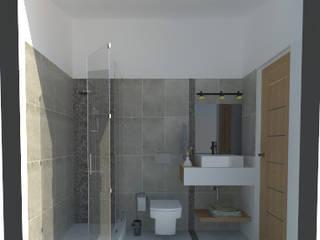 Baños de estilo minimalista de ARQ. María Florencia Fernández Minimalista