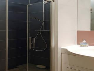Mieszkanie prywatne w CHORZOWIE: styl , w kategorii Łazienka zaprojektowany przez NOBO DESIGN Aleksandra Huras