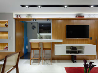 Salas / recibidores de estilo  por Emmanuelle Eduardo Arquitetura e Interiores, Moderno