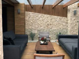 ระเบียง, นอกชาน โดย Arquitectura101 + Kably Arquitectos, โมเดิร์น
