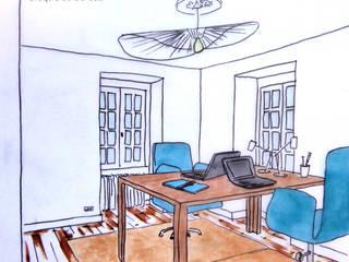 Un bureau entre style classique et ambiance contemporaine Bureau moderne par Mon Intérieur Sur Mesure (MISM) Moderne